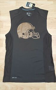 Nike Dri fit Cleveland Browns sleeveless shirt men's S womens medium boys large