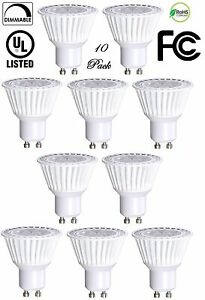 10 Pack Bioluz LED GU10 LED Bulbs 50W Halogen Equivalent Dimmable 6.5w 3000K