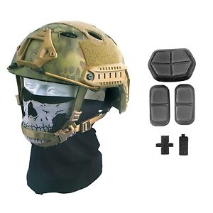 Tactical Airsoft  Fast Helmet Military Paintball Gear Swat Combat Replica New