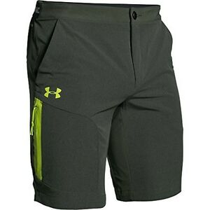 UNDER ARMOUR Mens ArmourVent Trail Shorts Green 2XL
