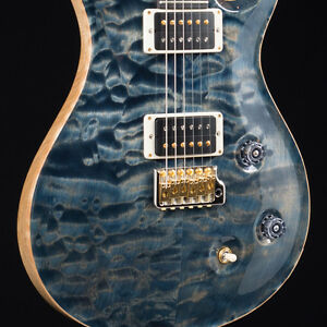 PRS 2017 NOS Custom 22 10 Top Rosewood Neck Wood Library Faded Whale Blue 7854