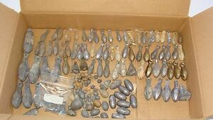 Mixed Lot of Vintage Lead Fishing Weights Sinkers