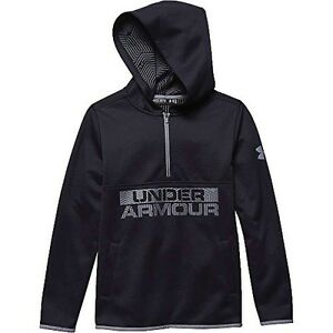 Under Armour Boys UA ColdGear Infrared Fleece Hoodie X-Small  7 Big Kids Black