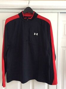 Under Armour  ALL SEASON LOOSE 14 Zip  Top - BlackRED NWOT XLARG