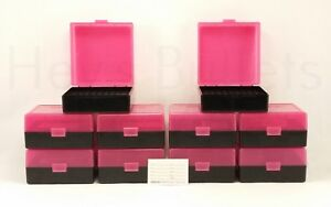 BERRY'S PLASTIC AMMO BOXES (10) PINK 100 ROUND 223  5.56 - FREE SHIPPING