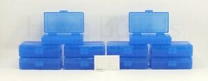 BERRY'S PLASTIC AMMO BOXES (10) BLUE 50 Round 40 S&W  45 ACP - FREE SHIPPING