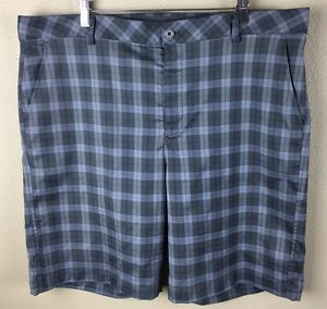 UNDER ARMOUR PERFORMANCE Men's 40R Gray Plaid Golf Shorts