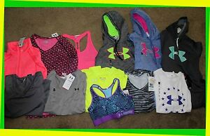 Women's Under Armour Shirts Tops Hoodies Sports Bra M L XL Athletic Running