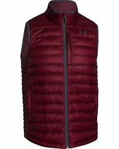 Under Armour Mens Coldgear Infrared Turing Insulated Vest Burgundy X-Large