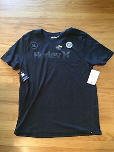Hurley Mens Dri-FIT One And Only Team (USA) Black T-Shirt MTS0021470 Size L-XL