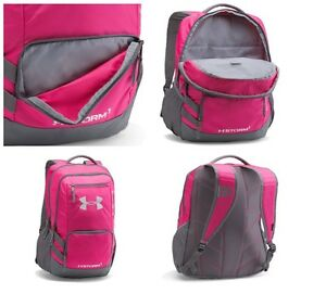 Under Armour Storm Backpack Soft laptop holds One Size Tropic PinkGraphite NEW