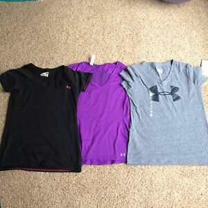 lot of 3 Women's under Armour Athletic Running Workout Shirts Tops XS