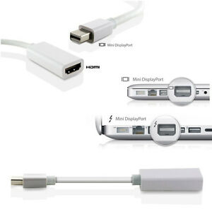 ULTRA Speed Mini Display Port MDP to HDMI Adapter Cable Fr Macbook Pro Air 1080P