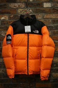SUPREME 16aw  The North Face Nuptse Jacket ORANGE L