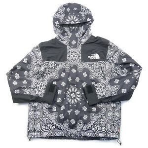 SUPREME  THE NORTH FACE 14 AW Bandana Mountain Parka Jacket BLACK L