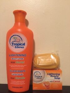 Tropical Essence Lightening Beauty Lotion with CARROT ❤️❤️FREE SOAP❤️❤️