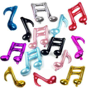 Set of 8 Music notes Aluminum Foil Balloons for Valentines Day