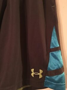 Under Armour YouthBoys Gray Blue Shorts