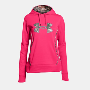 UA Under Armour Storm Caliber Women's Hunting Hoodie Pink Small Camo