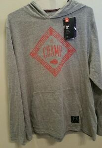 Under Armour Men's UA Cassius Clay The Champ Muhammad Ali Hoodie Gray XL