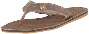 Under Armour Womens TropicFlo Leather Sandals Cleveland BrownNeon Papaya 8