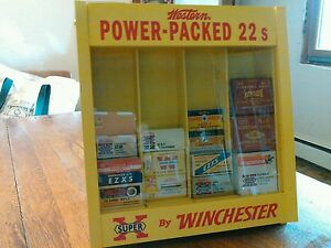 Winchester 22 ammo boxesshotgun shell boxes blasting cap tins display case