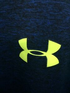 under armour Sports Top T Shirt Mens Blue Green Size Loose Fit XL