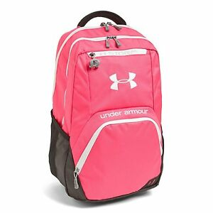 NWT UNDER ARMOUR STORM WATERPROOF BACKPACK PINKBLACK 18X12X9 LAPTOP PACKET