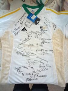 Rare One Of A Kind South African Soccer  Football Shirt With Real Signatures