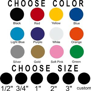 Polka dot stickers Pick size and color Permanent outdoor glossy vinyl decals. $4.99