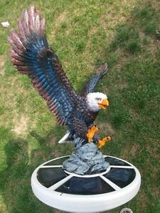 Flagpole Eagle on Approach Topper Finial Ball Hand Painted USA Real Lifelike