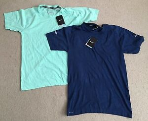 Lot of 2 NIKE Dri FIT Novelty Knit Running T Shirts Men's size M