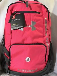NWT~ Under Armour Storm Hustle II Backpack Tropic Pink