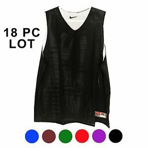 NWT Mens' Nike Dri-Fit Polyester Tee Athletic Black Blue jersey Basketball LOT