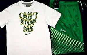 NWT ~~BOY'S NIKE ELITE DRI-FIT SHORTS & COTTON T-SHIRT YOUTH SIZE LARGE 14-16~~