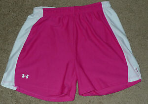 Women's Small S Pink Under Armour UA Attack Loose Athletic Sports Short 1001368