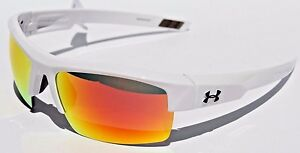 UNDER ARMOUR Igniter Sunglasses Shiny WhiteOrange Multi NEW SportCycle $100