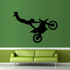 Wall Decal Sticker Motocross Tribal Dirt Bike Moto Motorcycle Jump Gp M825