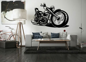 Wall Art Vinyl Sticker Room Decal Mural Decor Chopper bike motorcycle bo1727