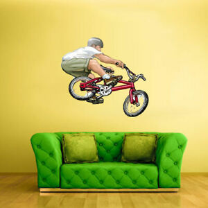 Full Color Wall Decal Sticker Bike Jump BMX Cycle Bicycle (Col647)