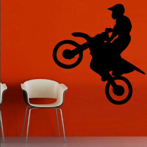 Wall Decal Sticker Vinyl Motocross Tribal Dirt Moto Motorcycle Jump Bike M832