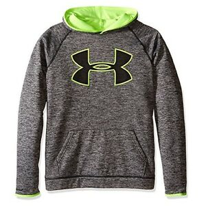 Under Armour Boys' Storm Armour Fleece Twist Hoodie BlackFuel Green Size Large