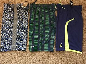 3 pairs Boys Nike Shorts Dri Fit & Jordan Boy's Size XL NEW