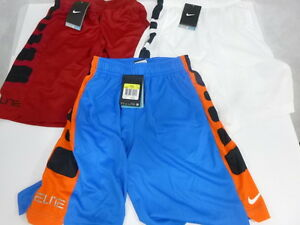Lot of 3 Nike Boys' Elite Striped DRI-FIT Basketball Shorts 546649 Size S