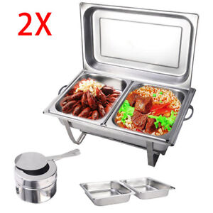 Chafing Dish Buffet Stoves Caterer Food Warmer Tray Dinner Serving Wedding Venue