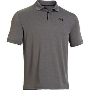 Under Armour Golf CLOSEOUT Performance Polo Carbon HeatherBlack 1242755-090