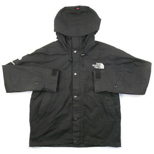 SUPREME  THE NORTH FACE 10 AW Waxed Cotton Parka waxed cotton jacket BLACK XL