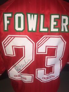 Signed Robbie Fowler Retro Debut Season Numbered Liverpool Adidas Home Shirt