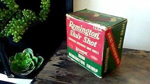Vintage Remington Shur Shot 12 Gauge Smokeless Wetproof Empty Ammo Box New Crimp