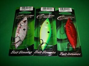 Cordell Rattle Spot Rattle Trap Wounded Shad Citruse amp; Red Crawdad 3quot; 3 Pk